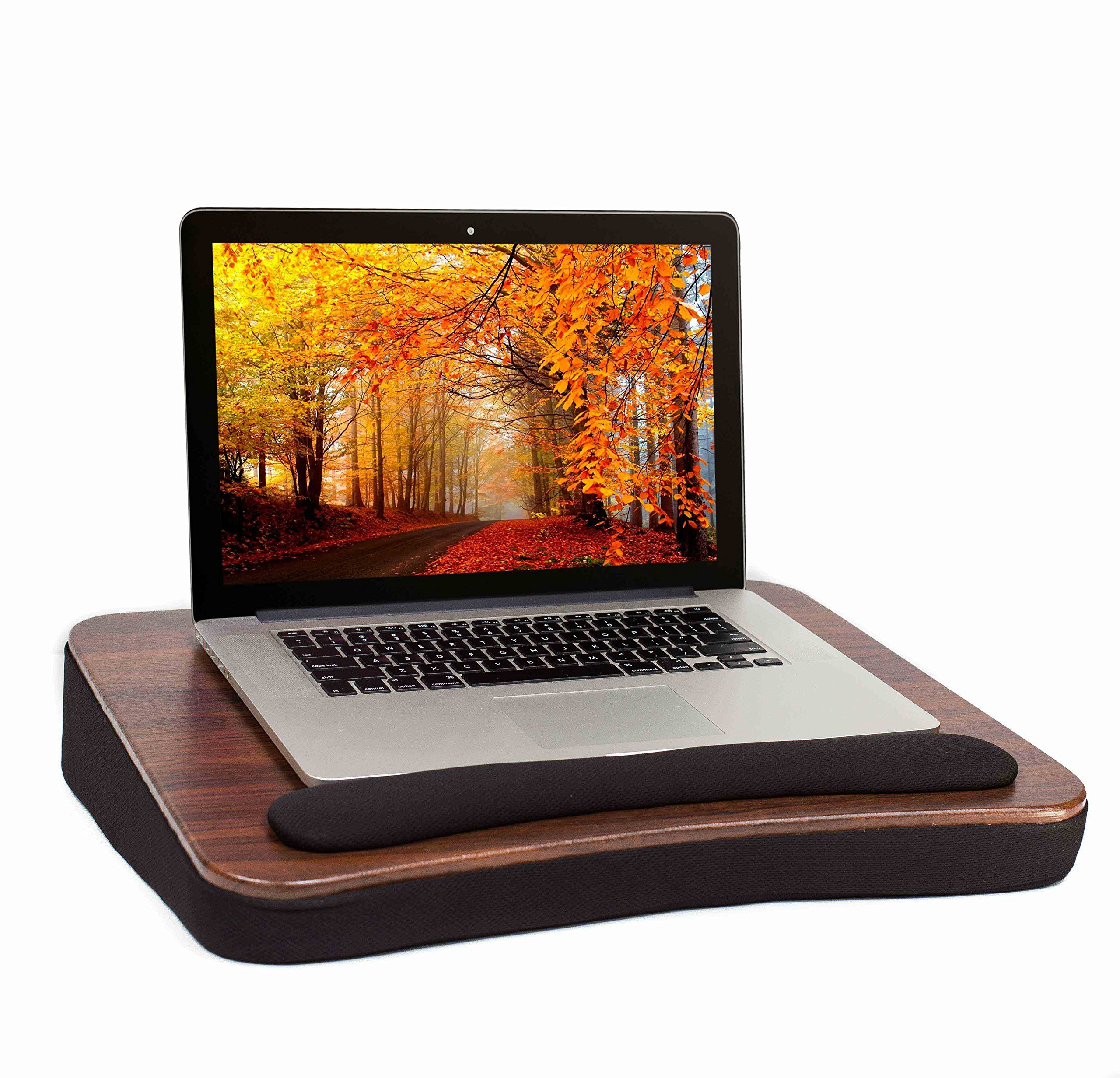 Sofia + Sam All Purpose Lap Desk (Wood top) | Supports Laptops Up To 17 Inches
