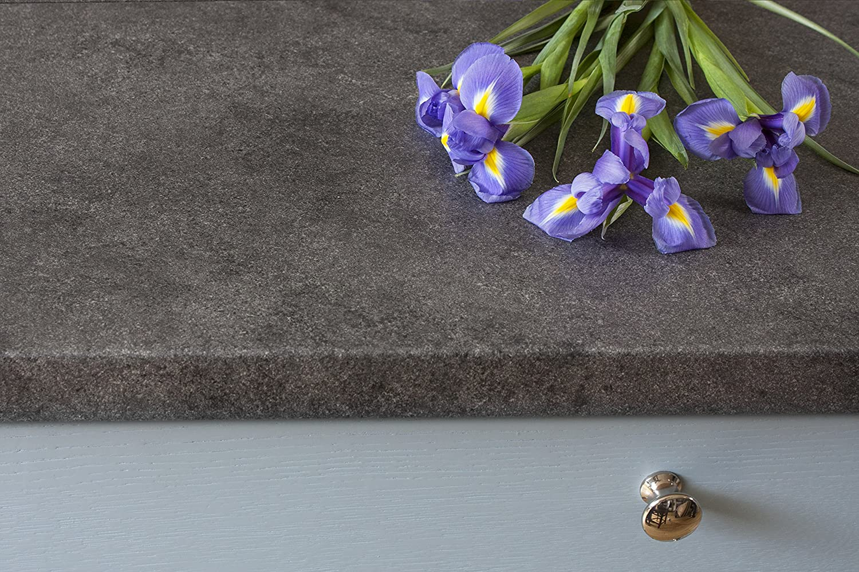 WORKTOPEXPRESS Grauer Stein Resopal K/üchenarbeitsplatten Umleimer 1.32m /× 40mm /× 0.6mm