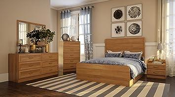 Amazon.com: 5pc Queen Size Bed Set GEORGIA Bedroom Furniture ...