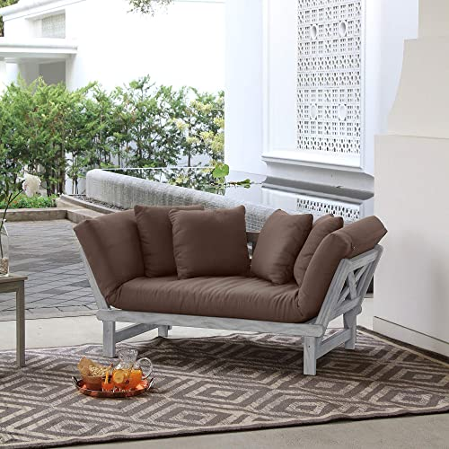 Cambridge Casual Solid Wood West Lake Convertible Sofa Daybed