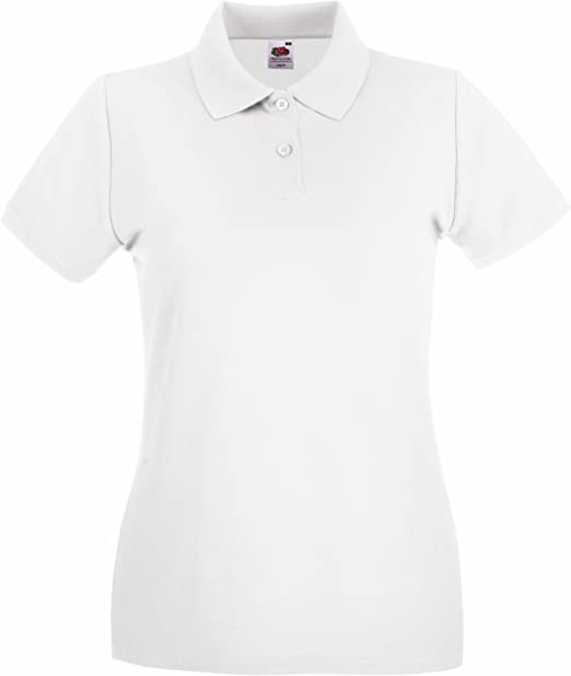 Fruit of the Loom - Polo Deportivo para Mujer Blanco XL: Amazon.es ...