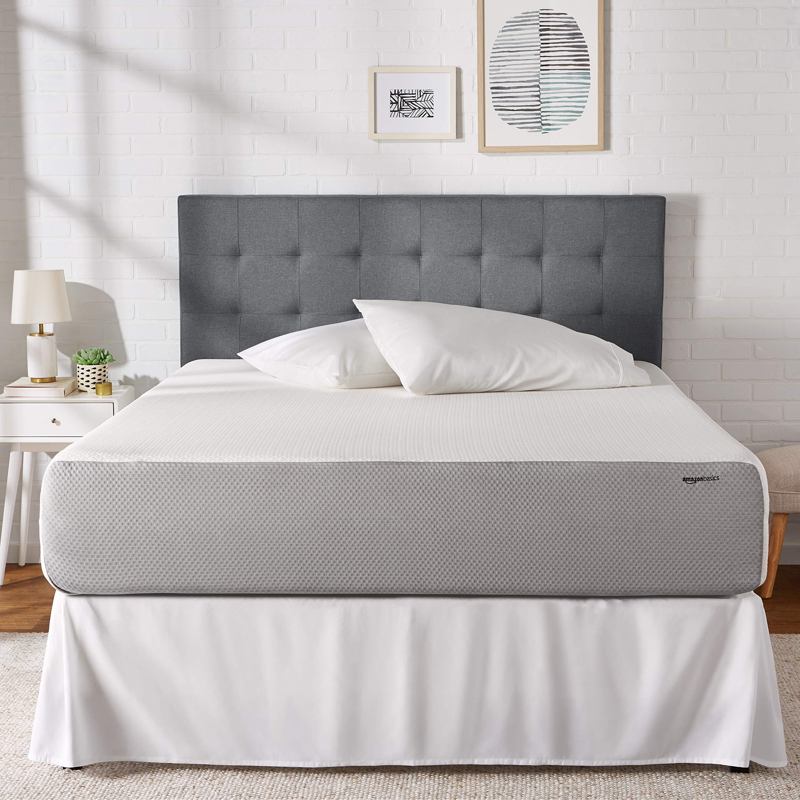 AmazonBasics Memory Foam Mattress - Soft Bed, Plush Feel, CertiPUR-US Certified - 12-Inch, Queen Size