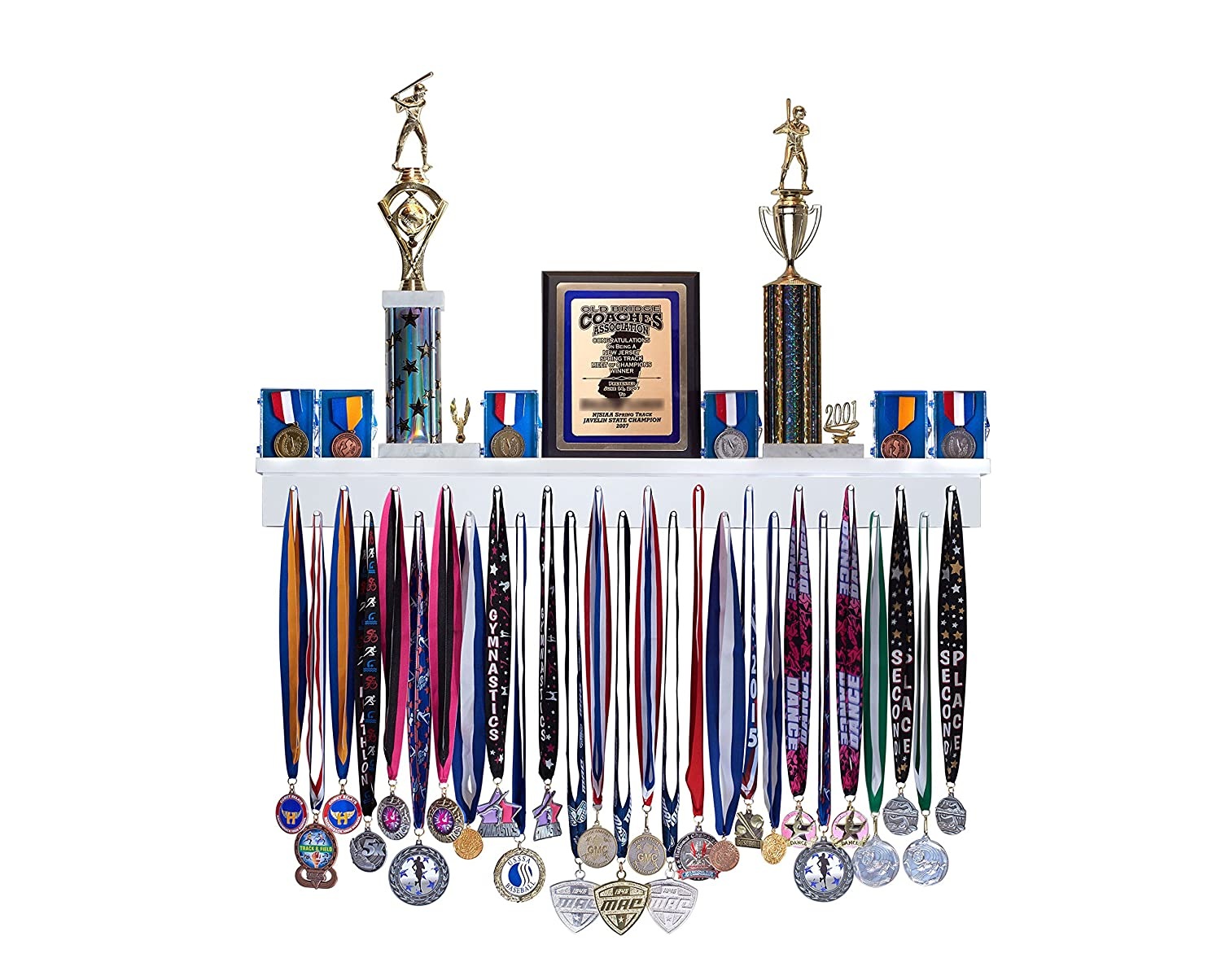 Amazon Premier 3ft Award Medal Display Rack And Trophy Shelf Office Products