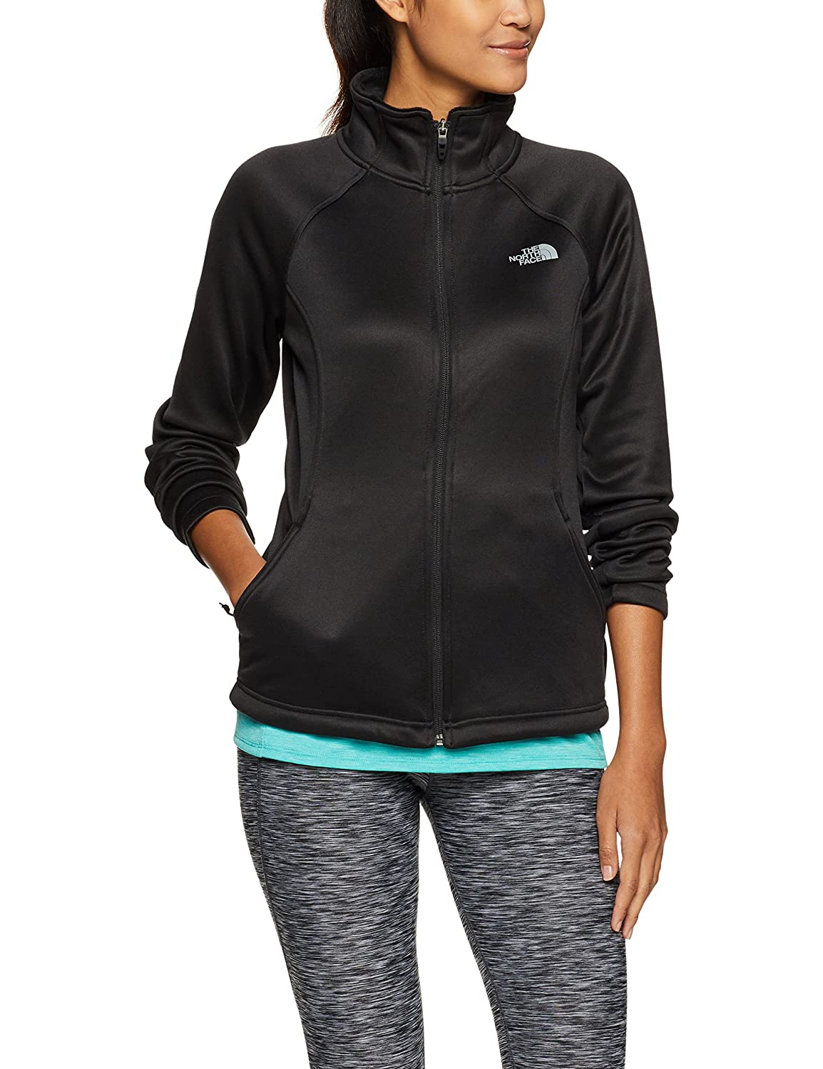 b53d65ae8 The North Face Women's Agave Full Zip TNF Black Heather/Mid Grey (Prior  Season) Large