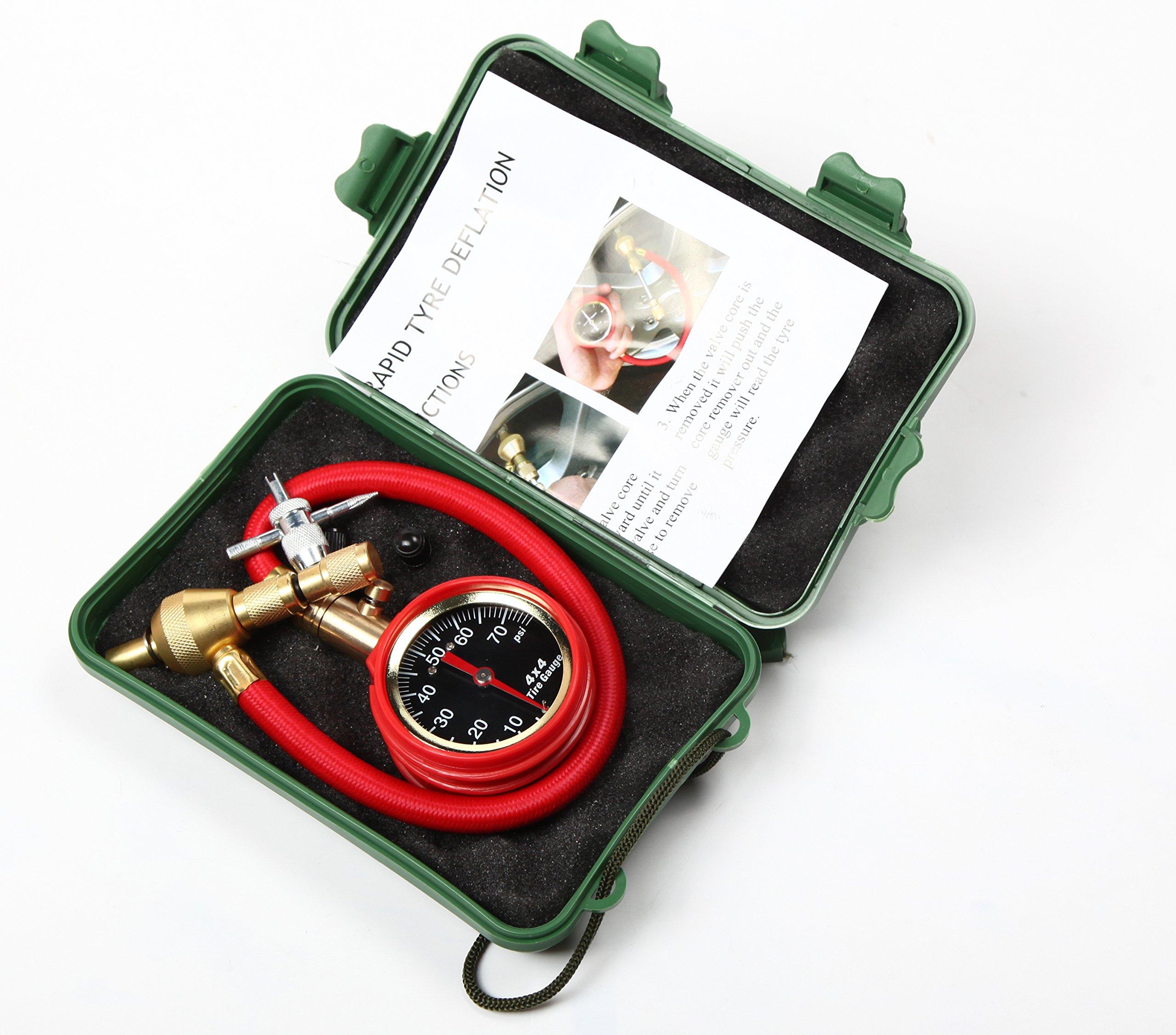 OFFROAD BOAR Adjustable Automatic Tire Deflators Kit