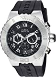 Invicta Men's 'Pro Diver' Quartz Stainless Steel and Polyurethane Casual Watch, Color:Black (Model: 24747)