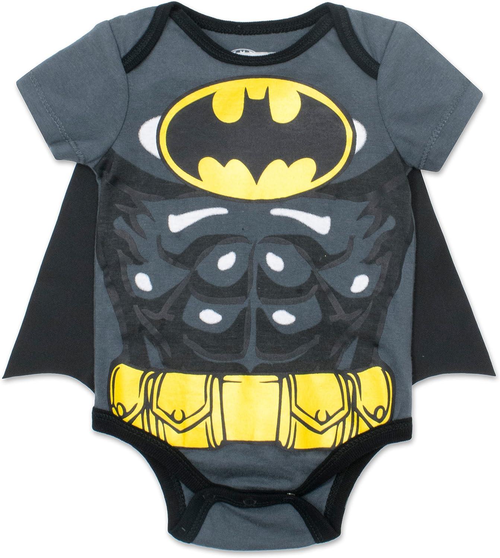 Batman /& Superman DC Comics Justice League Baby Jungen Body und Cape Set