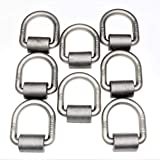 (Pack of 8) 1/2-inch, 4,000lbs Working Load Limit Capacity Weld-on Flip D-Ring Anchor