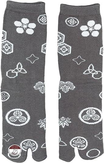 Ninja Tabi Socks, Japanese Ninja/ Samurai Tabi Socks: Uni-sex (Kamon)