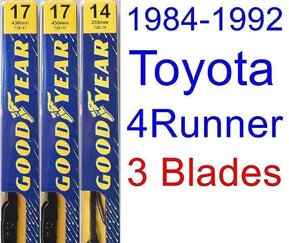Amazon.com: 1984-1992 Toyota 4Runner Wiper Blade (Rear) (Goodyear Wiper Blades-Premium) (1985,1986,1987,1988,1989,1990,1991): Automotive