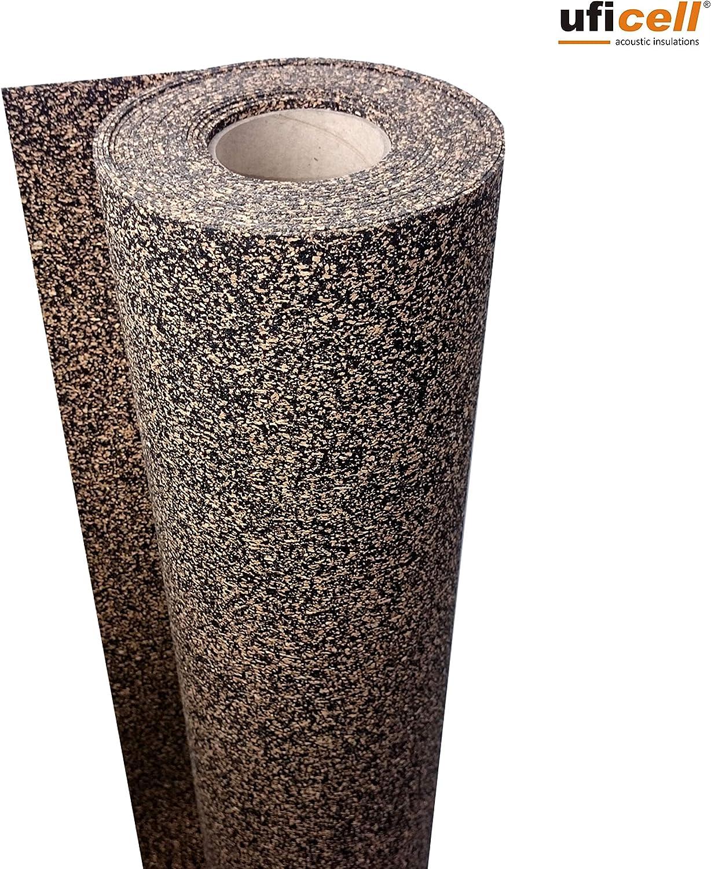 TRECOR/® Gummi-Korkunterlage Vinyl-Unterlage Top Schall-D/ämmung 2 mm St/ärke, 20 m/² Trittschalld/ämmung bis 21 dB Extrem belastbar Schallschutz als Laminat-Unterlage Parkett-Unterlage