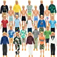 SOTOGO 42 Pieces Doll Clothes and Accessories for Ken Dolls Include 19 Set Doll Casual/Career Wear Clothes Jacket Pants Outfits and 4 Beach Shorts
