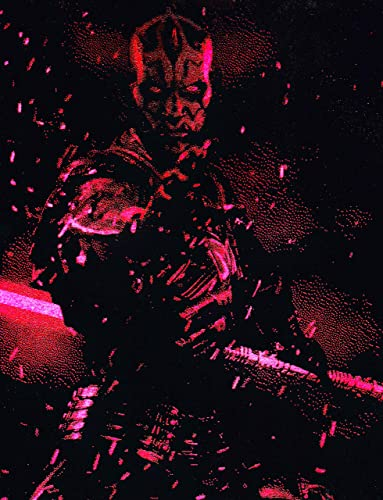 Darth Maul Lightsaber Metal Painting Poster Star Wars Spray Paint