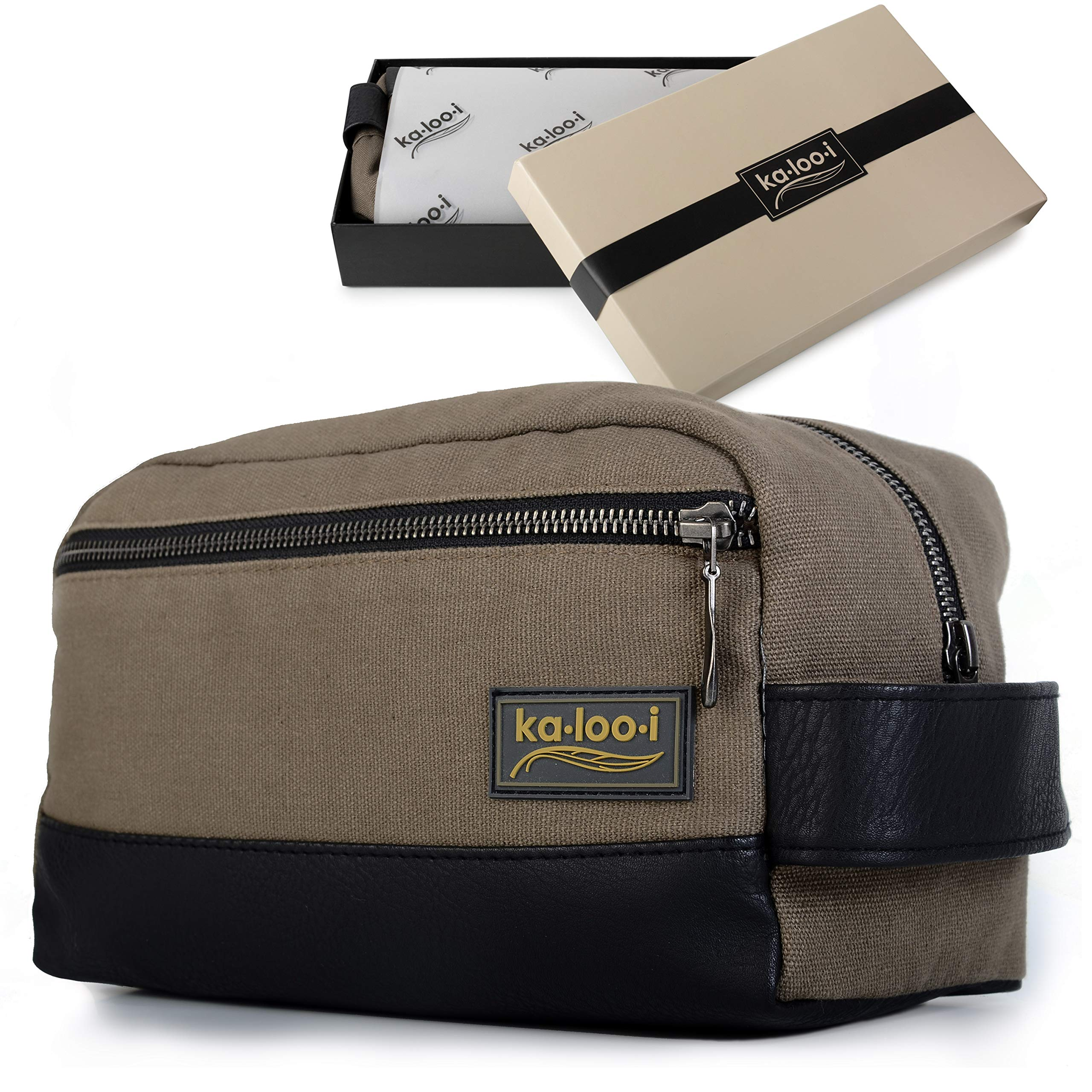 f7b28b72a4 Amazon.com   Toiletry Bag for Men - Canvas Dopp Kit for Travel