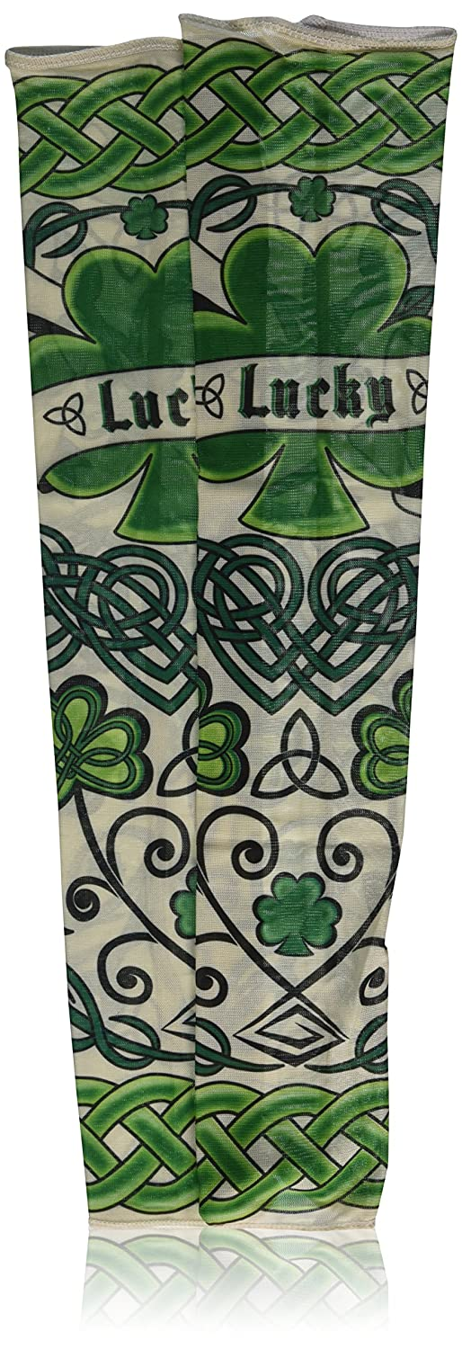 Amscan St Patrick's Day Adult Arm Tattoo Sleeves Green/Black One Size TradeMart Inc. 219310