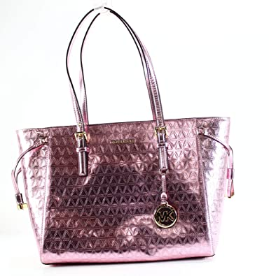 31044ed12b3e Amazon.com  MICHAEL Michael Kors Voyager Medium Multifunction Top-Zip Tote  (Soft Pink)  Shoes