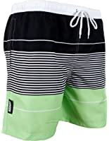 GUGGEN Mountain Men's swimming trunks out of High-Tec Material swim shorts bathing drawers bathers slip striped *High Quality Print*