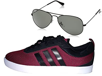 huge selection of a2587 69634 Adidas Neo 2 Men s Canvas Sneakers (Ind UK 10, Red)  Buy Online at Low  Prices in India - Amazon.in