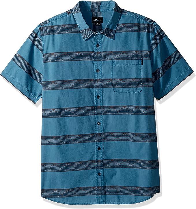 ONeill Mens Modern Fit Chest Stripe Short Sleeve Woven ...