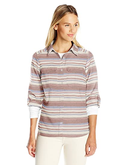 Long Sleeve es Lodge Columbia Pilsner Amazon Shirt Women Stripe 's fxwzYXFq