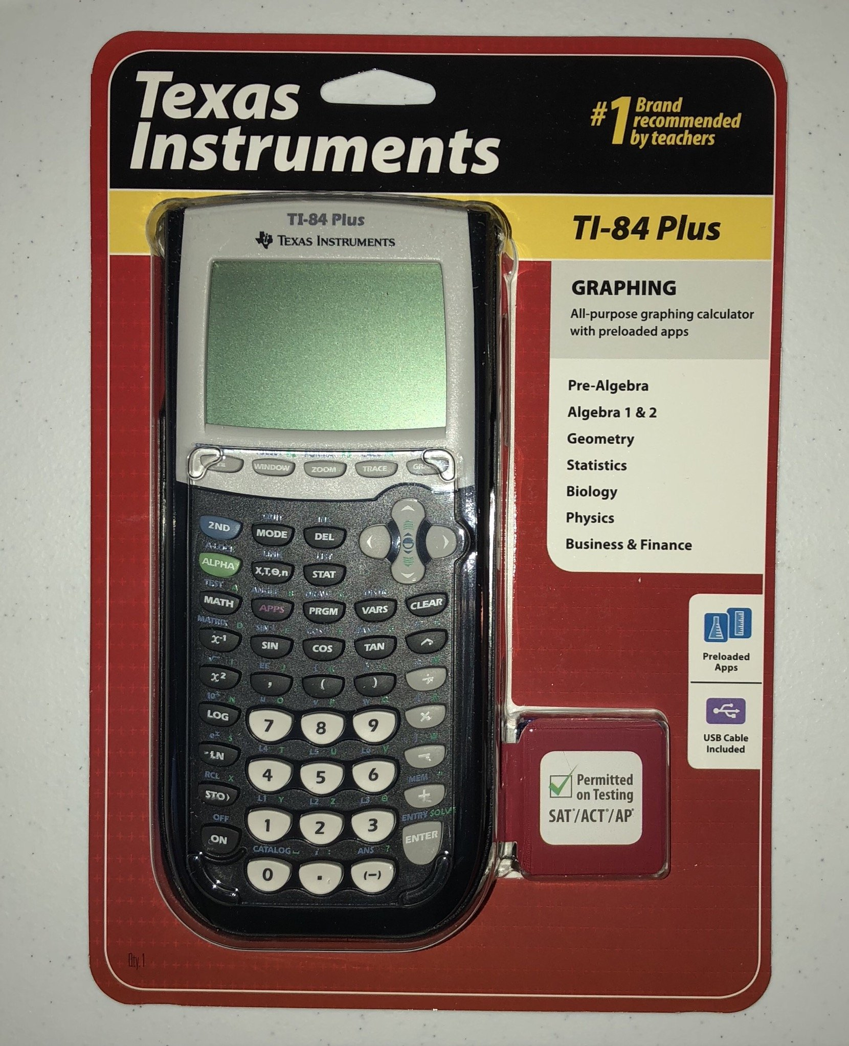 Texas Instruments TI-84 Plus Graphing Calculator TI 84 TI84 Graph Algebra Scientific Graphic Caculator New Gadget by GADGETS-R-US