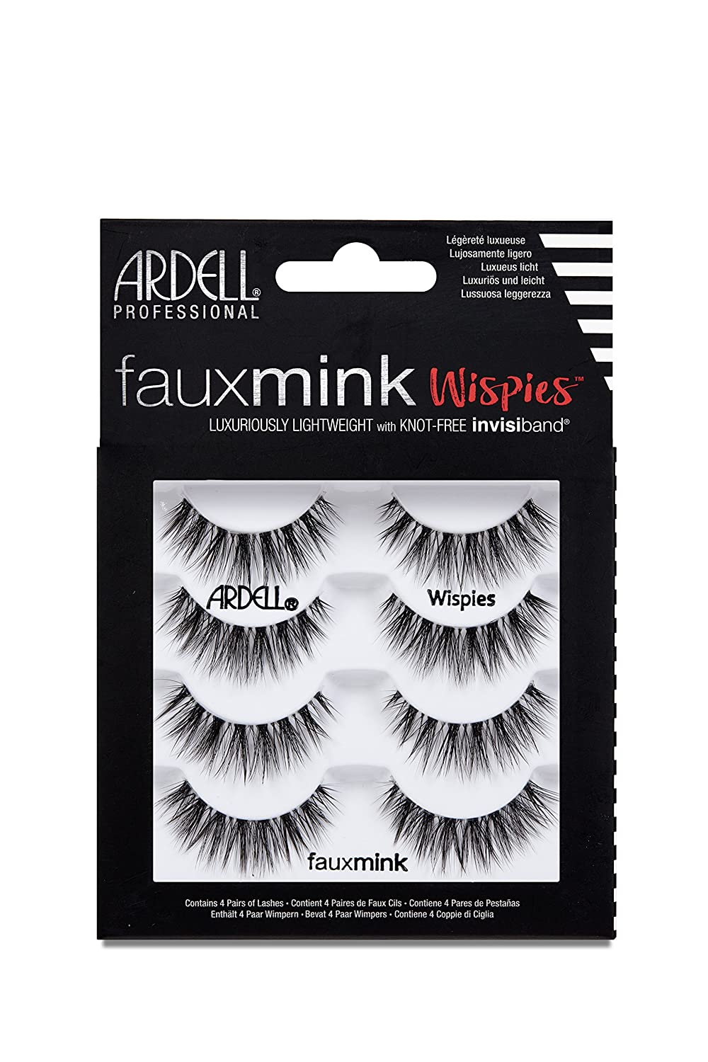 Ardell False Lashes Faux Mink Wispies Multipack, 1 pk x 4 pairs