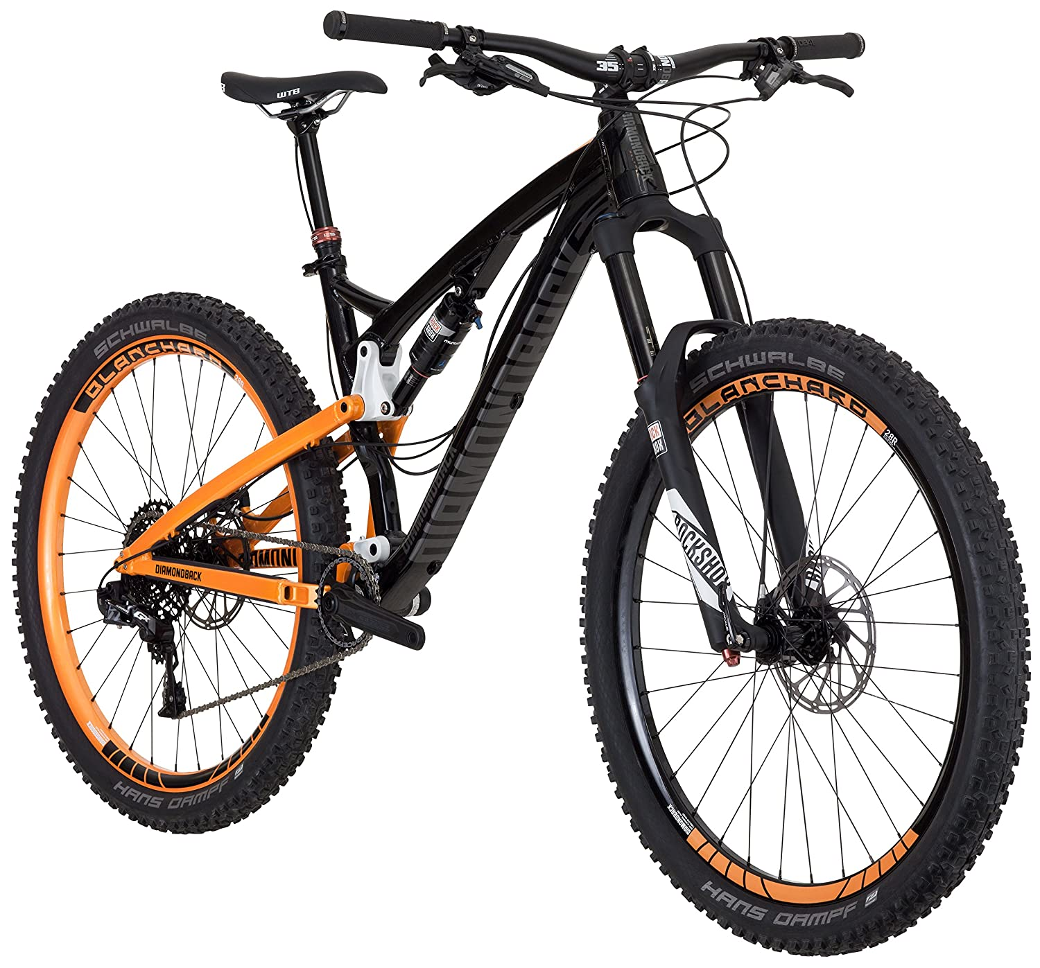 Trail Mountain Bikes >> Amazon Com Diamondback Bicycles Release 2 Complete Ready Ride Full