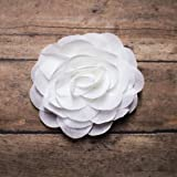 White Rose Chiffon Hair Flower Clip