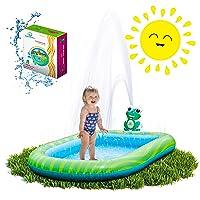 Splashin'kids 3 in 1 Inflatable Sprinkler Pool Water Park For Kids Toddlers Kiddie...