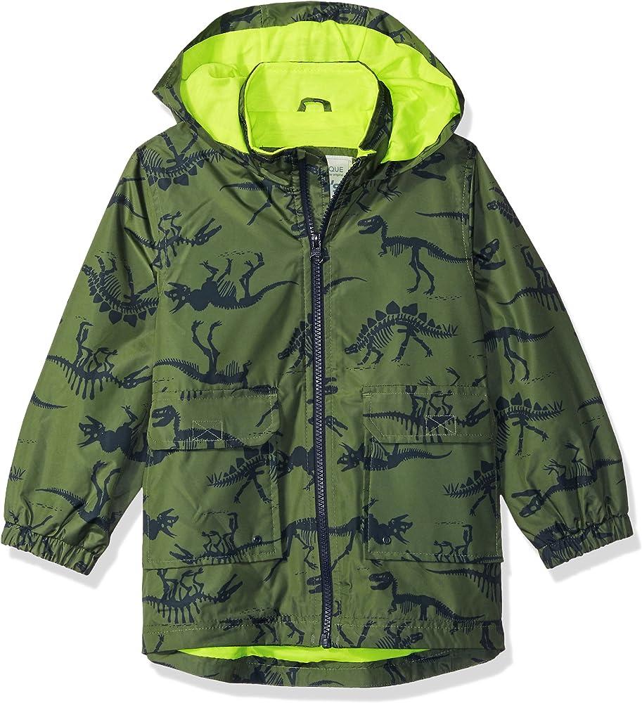 Amazon.com: Carter's Boys' Toddler Favorite Rainslicker Rain Jacket, Green  Dinosaur Print, 2T: Clothing