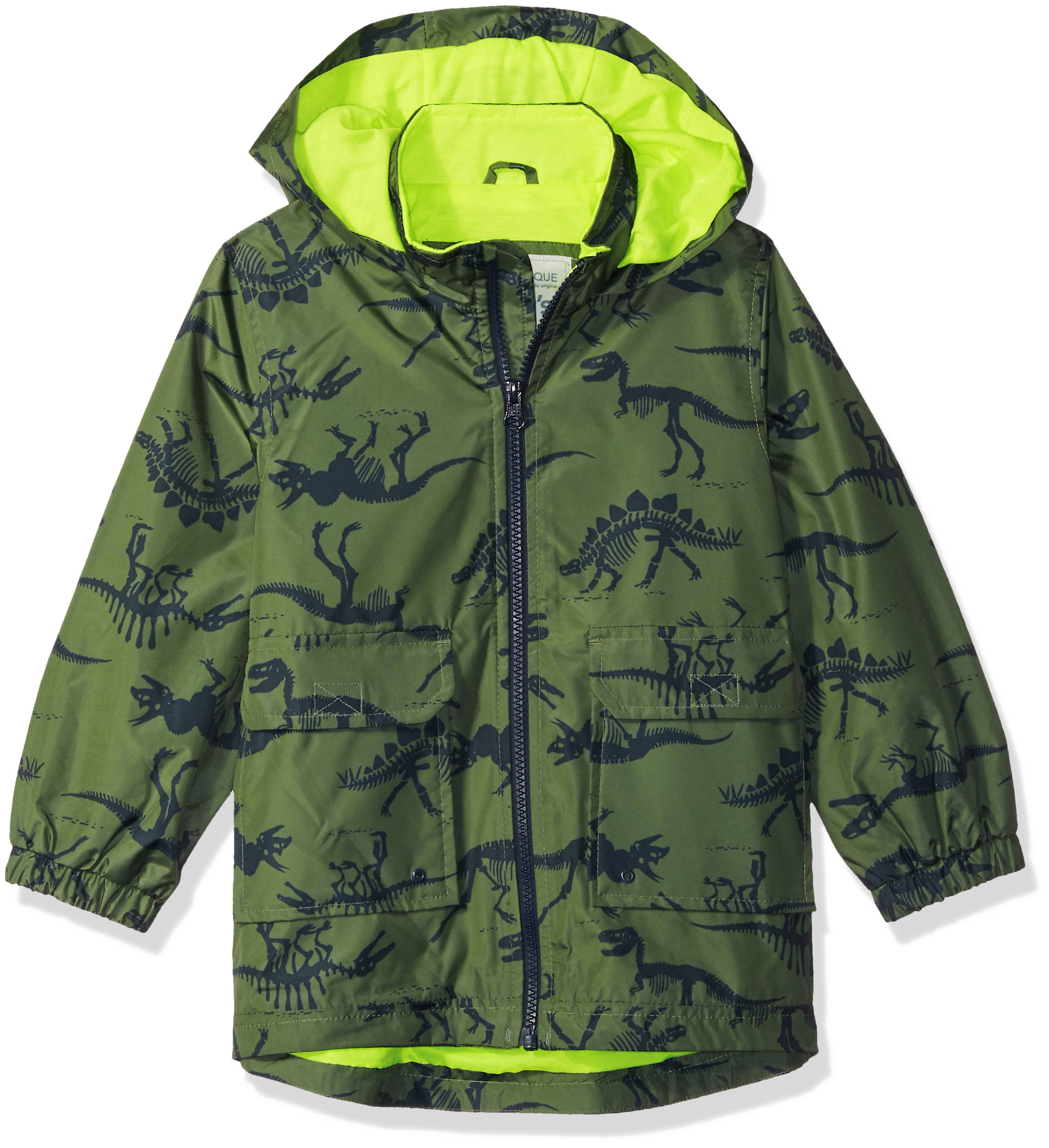 Carter's Little Boys' His Favorite Rainslicker Rain Jacket, Green Dinosaur Print, 5/6 by Carter's