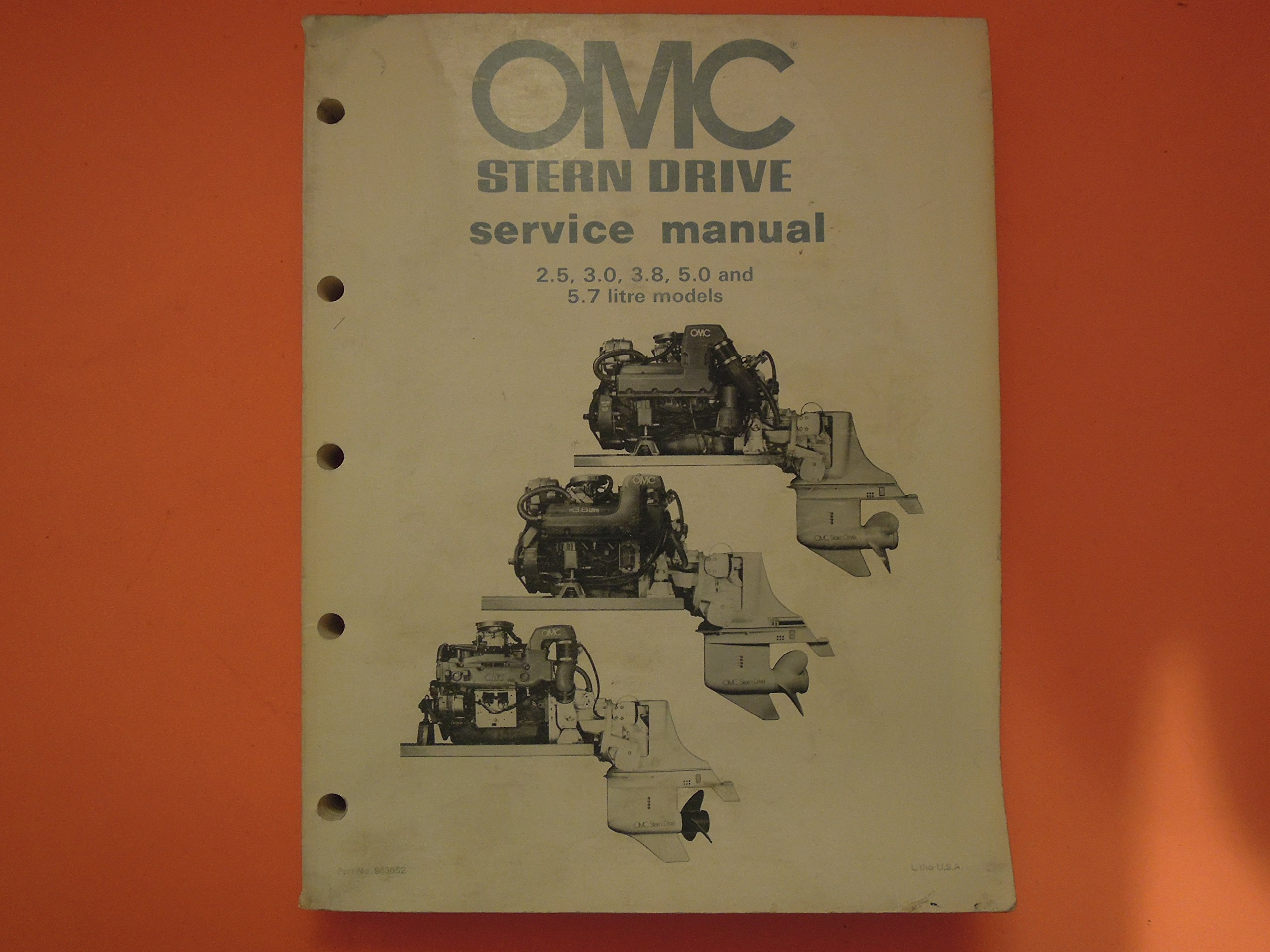 OMC Stern Drive Service Manual (2.5, 3.0, 3.8, 5.0 and 5.7 litre models):  Outboard Marine Corporation: Amazon.com: Books