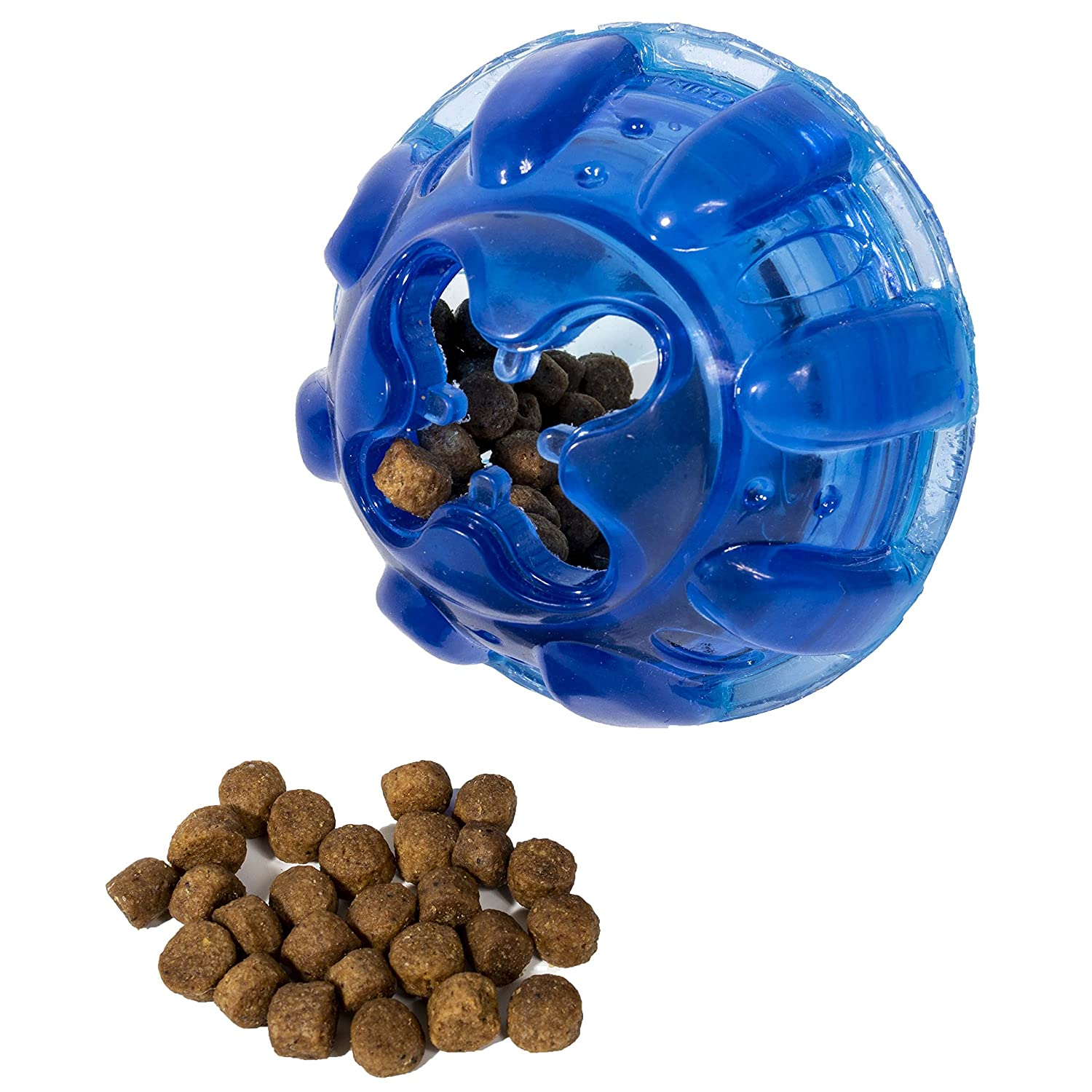 Franklin Pet Supply Treat and Play Dog Toy Ball ? Treat ? Play Fetch ? Dog Teething ? Puppy Chew ? Ultra Tough ? Hide a Treat