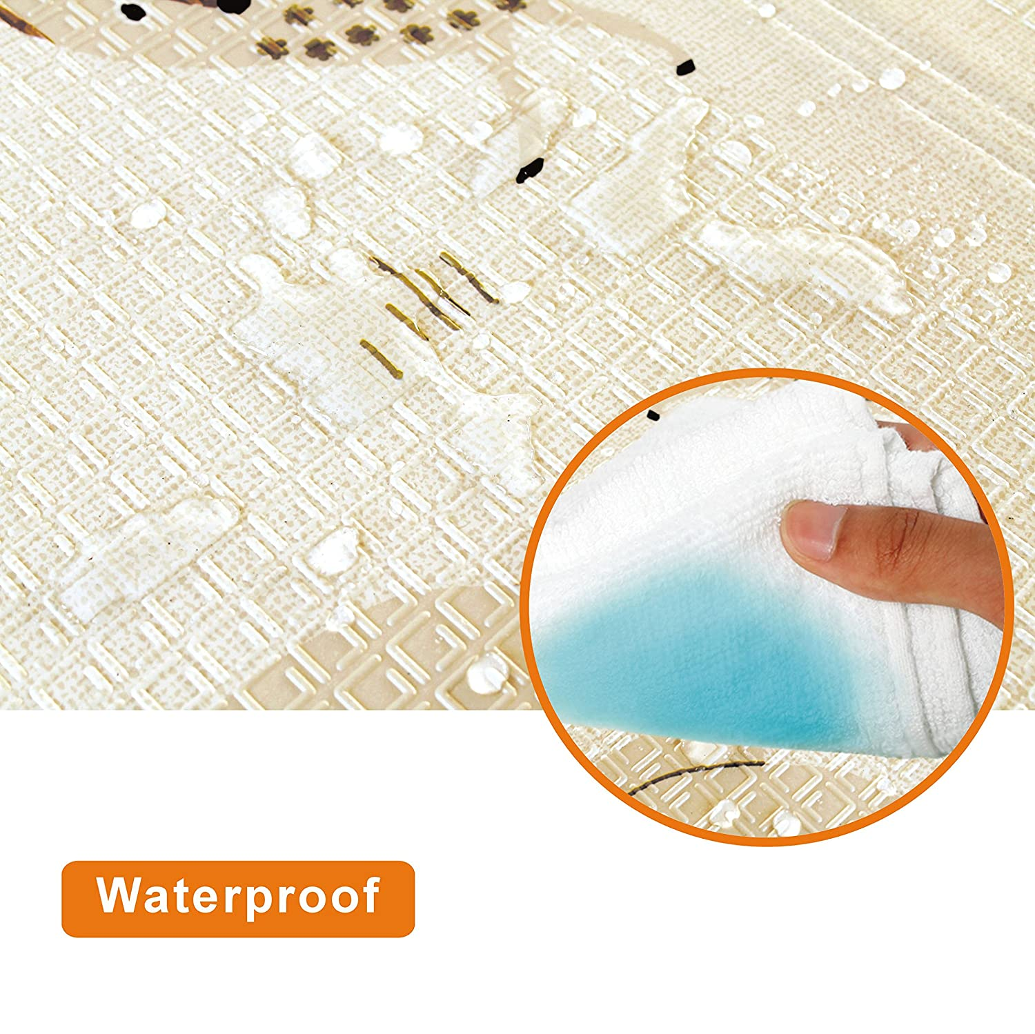 150x180x1in Baby Play Mat Folding Baby Care XPE Playmat Baby Mat for Floor Crawl Mat for Baby Floor Slip Foam Reversible Waterproof Portable Kids Toddler Outdoor or Indoor Non Toxic Colorful