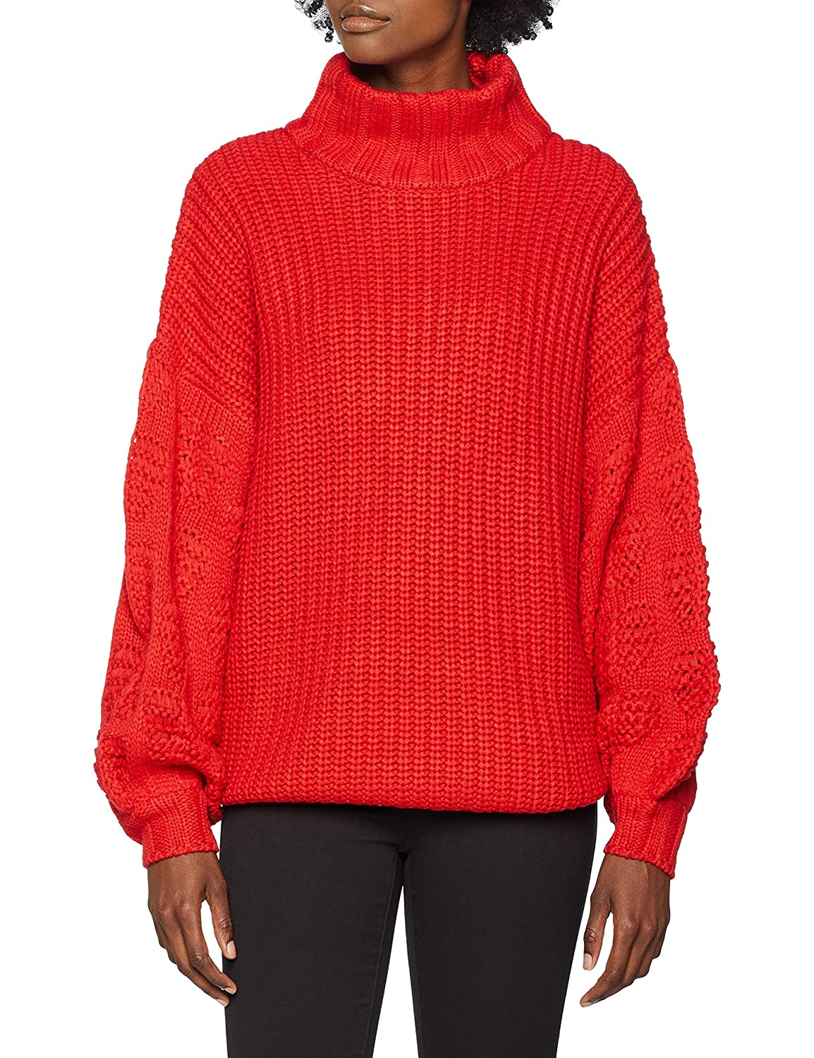 Lost Ink Super Stitch Sleeve Jumper Jersey para Mujer
