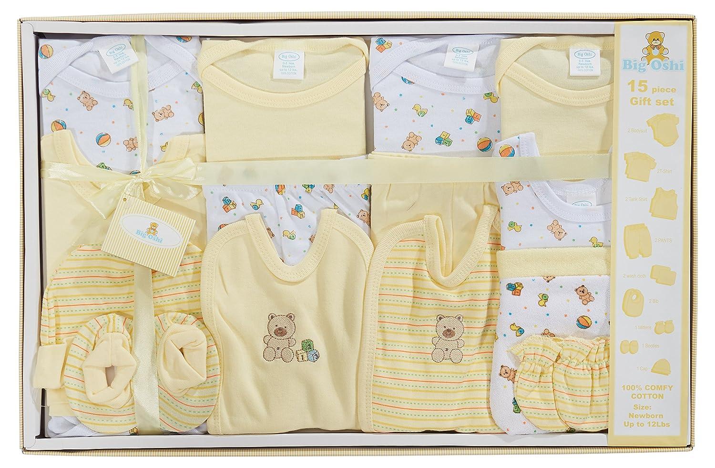 Babydiscovery Girls Newborn 5-Piece Essential Baby Layette Set Pink