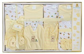4987ea2de838 Big Oshi 15 Piece Layette Newborn Baby Gift Set - Great Baby Shower or  Registry Gift