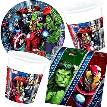 37 piezas Party * Avengers Assemble * con plato + taza + ...