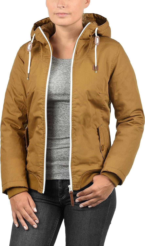 DESIRES Tilla Damen /Übergangsjacke leichte Jacke mit Kapuze