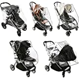 Baby Stroller Rain Cover - Weatherproof Shield to Safeguard Your Child from Wind and Rain. Universal Size, Mesh Material for