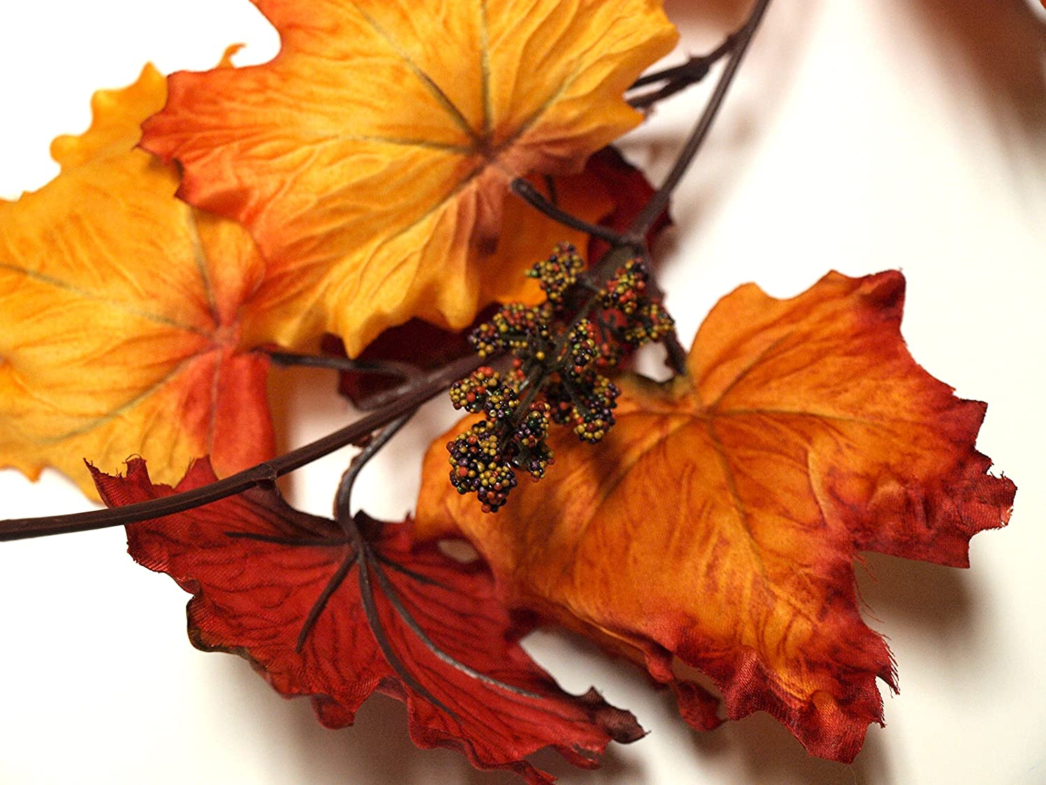 Red and Orange Leaf Garland