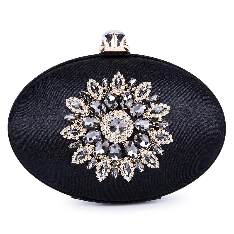Bolso de Embrague Cartera de Mano Fiesta Forma De Tetera Diamantes para
