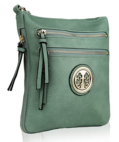 Multiple Pocket Crossbody Bag ~ Crossbody with Adjustable Shoulder Strap ~  Zip-top Closure Crossbody 02033e49b74c9