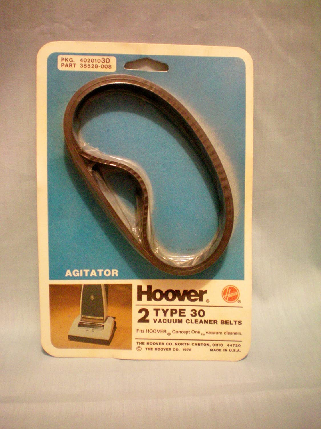 Hoover Agitator Type 30 Vacuum Cleaner Belts -- Pkg of 2 -- Fits Hoover Concept One Vacuum Cleaners