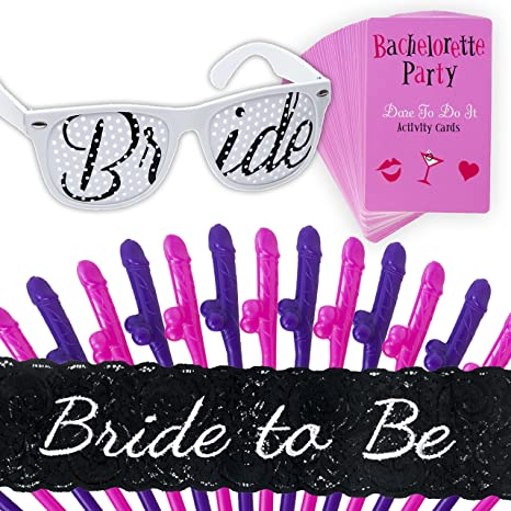 bachelorette party games kit bride to be sash naughty dare cards bride to
