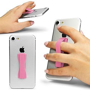 Urcover® Soporte de Mano Tablet Móvil, Selfie Strap Finger Smartphone, agarres elásticos, Sujetador Elástico Dedo, Sujetadores para Móvil/Tablet, Apple, ...