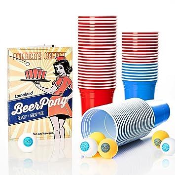 Lumaland Vasos De Fiesta Extra Resistentes 16 Oz Beer Pong Vasos 100