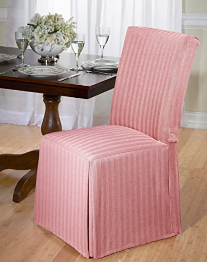 Amazon.com: Luxurious Dining Chair Slipcover, Herringbone, Beige ...