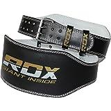 """RDX 6"""" Cuir Vachette Ceinture Musculation Fitness Bodybuilding Force Belt Lombaire Halterophilie Entraînement"""