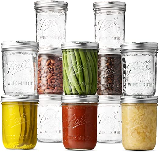 1-Pack Total Ball Wide Mouth Mason Jar Lids 12-Count per Pack